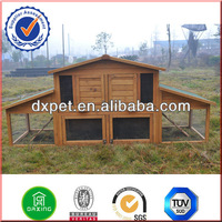 large wooden rabbit hutches houses and run DXR031