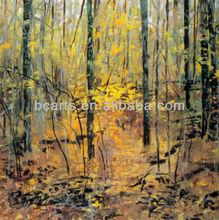 Handmade Yellow Leaf Maple Tree Painting Beautiful Decorative Landscape Oil Paintings