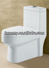 One piece siphon vortex western toilet
