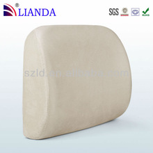 Memory Foam Lumbar Cushion Lower Back Support Pillow with Velour Cover