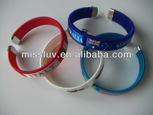 sport wristbands world cup Olympic games sport wristbands country flag team logo bands bracelets