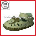 bh095367 de cuero zapatos de bebé con el patrón de dibujos animados