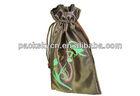 Custom logo fancy satin bag,small drawstring gift pouch