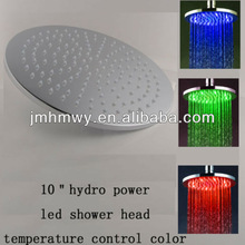 easy installation 250*250mm round wall mounted rainfall led bathroom shower head