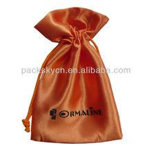 gift satin bag with printing logo