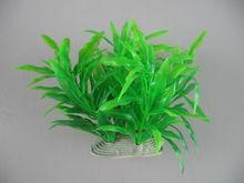 Green 4 inch Aquarium small artificial aquatic plant decorations 4 colors