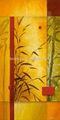 Jardim de dança eu- pintados à mão lona esticada pintura- por don li- leger renomado artista canadense