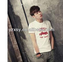 Korean men's white eco-friendly t shirts wholesale