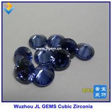 Hot Sale Lab Created Round Blue Tanzanite/Tansanite CZ Gemstone With AAA