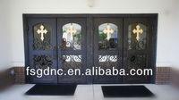 church style Wrought Iron Entrance Door
