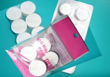 pill shape compressed napkins/magic coin tissue/color bag pack mini tissue