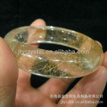 Christmas ornament natural yellow rutilated quartz crystal bracelet