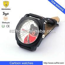 2013 Popular watch Cartoon flip top Interchangeable dial children's watches