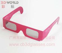 Paper polarized 3d glass
