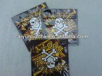 Zipper PIRATES BOOTY herbal incense bag/aluminum foil spice/potpourri packaging bag