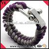 Survival bracelet adjustable stainless steel buckle for paracord