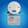lcd de monóxido de carbono del detector de alarma con la pantalla azul