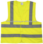 Adults 100% polyester safety reflective vest EN ISO 20471