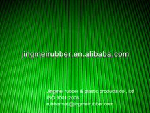 green fine ribbed rubber floor