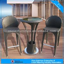 A - Morden pub furniture set rattan bar table and stools 2059