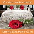 de lujo de algodón nueva 3d hoja de cama conjunto