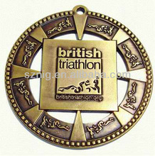 Gold/silver/bronze metal ribbon custom medal awards made in China