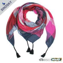 100% polyester short neck scarf