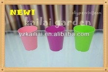 2013 colorful decorate family beautiful plastic flower pot square small pot-KLTG-100