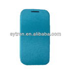 mouse-skin pu leather for Samsung Galaxy S4 i9500,for galaxy S4 leather case