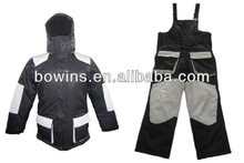 2 PIECE MENS SNOWMOBILE SUITS - BLACK/GREY/motorcycle jacket