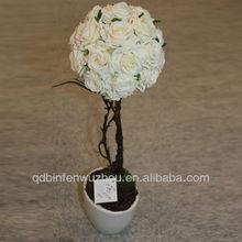 Cheap Artificial Velvet Rose Flowers, Artificial Potted Velvet Rose