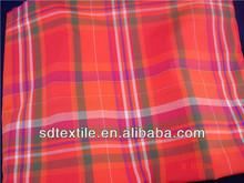 100% cotton yarn dyed big check for shirts