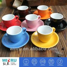 wholesale 80ml customized glazed ceramic coffee cups