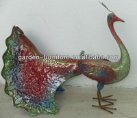 metal colorful peacock for decor