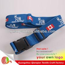 Fashion custom polyester luggage fasten belt