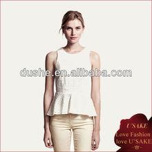 2013 Ladies Peplum Fashion Tops