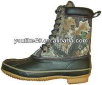 YL-2175 vulcanized rubber shell mossy oak combo snow boots