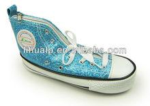 pu glitter shoe penceil case