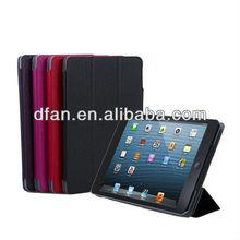 2013 hot selling leather skinfor ipad mini case