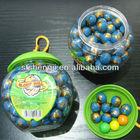 Globe bubble gum in apple shape jar
