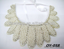 Factory stock Fashion collar necklace with white peal