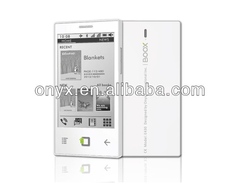 43u0026quot e ink screen android ebook reader mobile view 43u0026quot e ink onyx international eink android smartphone prototype emerges 800x633
