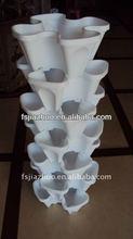 14'inch plastic flower pot,18'inch vertical garden,self-watering planter