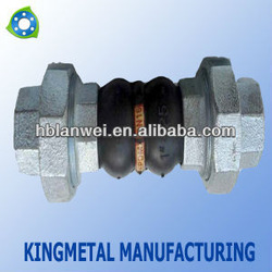 Double Ball Rubber Expansion Joint threaded