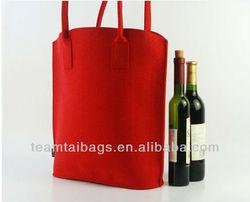 wool felt tote bag/felt wine bag