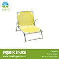 de aluminio plegable silla de playa con apoyabrazos de aluminio