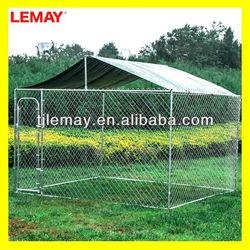 10' X 10' X 6 galvanized outdoor a-frame dog kennel