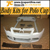 PU material car body kits for VW POLO full bumper sets