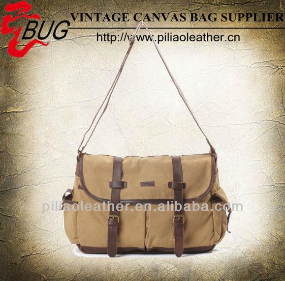 2013 Fashionable Canvas Messenger Bag Khaki