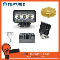 Motorcycle led work light 9W Mini 3leds truck Light with mount kits